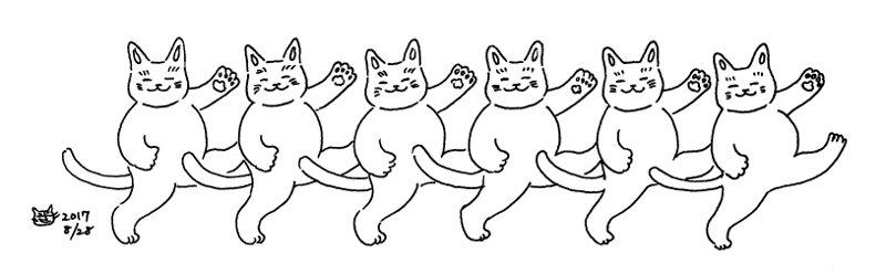 ねこねこダンス♪