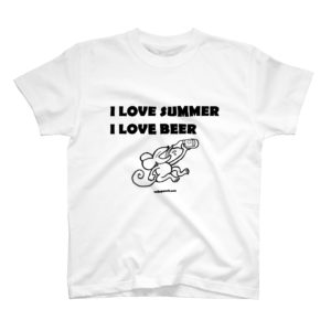 I LOVE SUMMER, I LOVE BEER Tシャツ