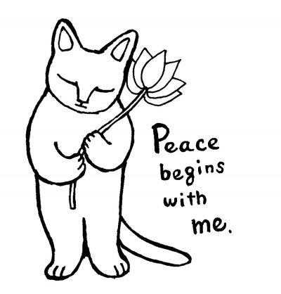 祈る猫 Peace begins with me